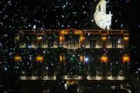 Illuminations de la façade de la Mairie